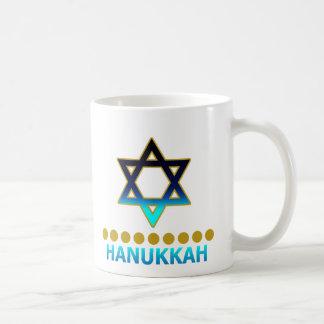 Hanukkah Star Of David Menorah Classic White Coffee Mug