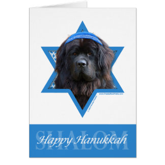 Hanukkah Star of David - Newfoundland Card