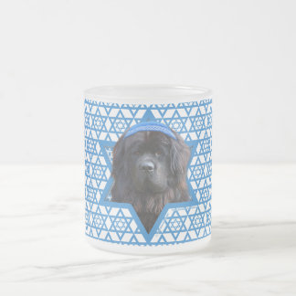Hanukkah Star of David - Newfoundland Frosted Glass Coffee Mug