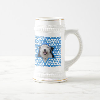 Hanukkah Star of David - Old English Sheepdog Beer Stein