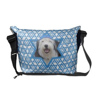 Hanukkah Star of David - Old English Sheepdog Courier Bags