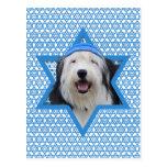 Hanukkah Star of David - Old English Sheepdog Postcards