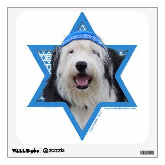 Hanukkah Star of David - Old English Sheepdog Wall Decal