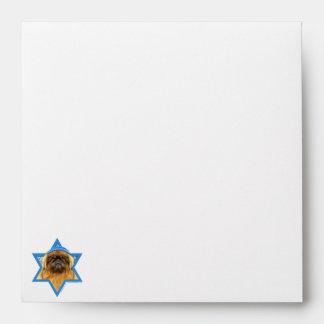 Hanukkah Star of David - Pekingese - Pebbles Envelope