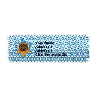 Hanukkah Star of David - Pekingese - Pebbles Label