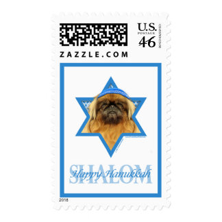 Hanukkah Star of David - Pekingese - Pebbles Postage Stamps