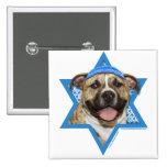 Hanukkah Star of David - Pitbull - Tigger Pinback Button