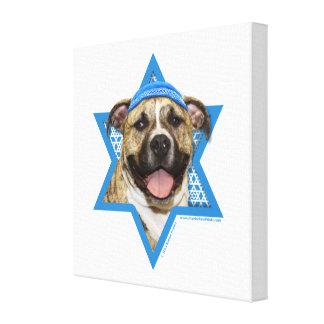 Hanukkah Star of David - Pitbull - Tigger Gallery Wrap Canvas