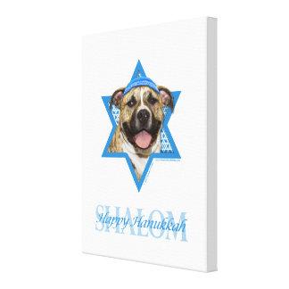 Hanukkah Star of David - Pitbull - Tigger Stretched Canvas Prints