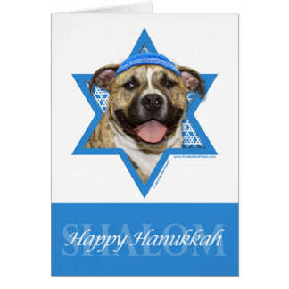 Hanukkah Star of David - Pitbull - Tigger Card