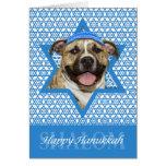 Hanukkah Star of David - Pitbull - Tigger Greeting Card