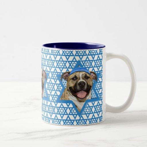 Hanukkah Star of David - Pitbull - Tigger Two-Tone Coffee Mug