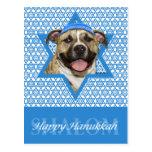 Hanukkah Star of David - Pitbull - Tigger Postcard