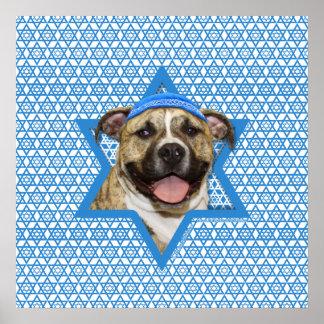 Hanukkah Star of David - Pitbull - Tigger Print