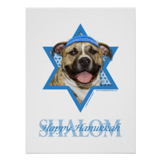 Hanukkah Star of David - Pitbull - Tigger Poster