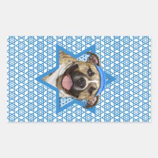 Hanukkah Star of David - Pitbull - Tigger Rectangular Sticker