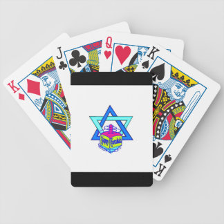 Hanukkah Star of David Bicycle Playing Cards