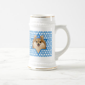 Hanukkah Star of David - Pomeranian Beer Stein