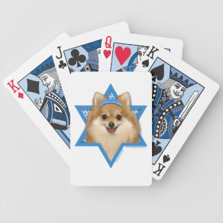 Hanukkah Star of David - Pomeranian Playing Cards