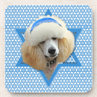 Hanukkah Star of David - Poodle - Apricot Beverage Coaster