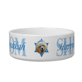 Hanukkah Star of David - Poodle - Apricot Bowl