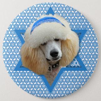 Hanukkah Star of David - Poodle - Apricot Button
