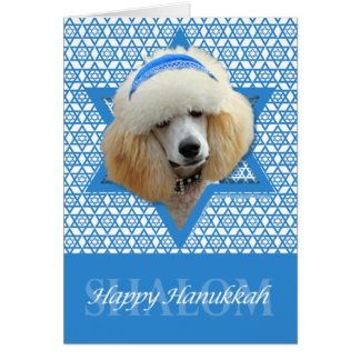 Hanukkah Star of David - Poodle - Apricot Stationery Note Card