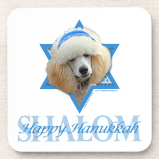 Hanukkah Star of David - Poodle - Apricot Coaster