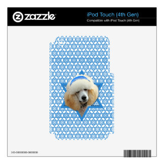 Hanukkah Star of David - Poodle - Apricot Decals For iPod Touch 4G