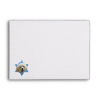 Hanukkah Star of David - Poodle - Apricot Envelope