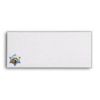 Hanukkah Star of David - Poodle - Apricot Envelopes