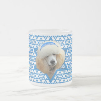 Hanukkah Star of David - Poodle - Apricot Frosted Glass Coffee Mug