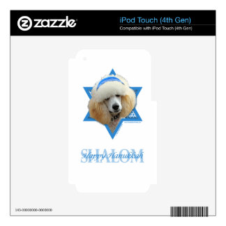 Hanukkah Star of David - Poodle - Apricot iPod Touch 4G Decals