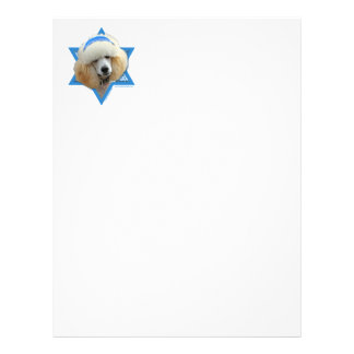 Hanukkah Star of David - Poodle - Apricot Letterhead