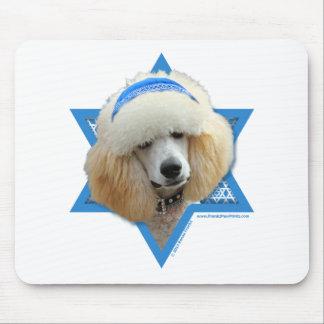 Hanukkah Star of David - Poodle - Apricot Mouse Pad