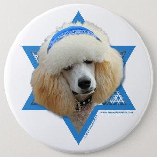 Hanukkah Star of David - Poodle - Apricot Pinback Button