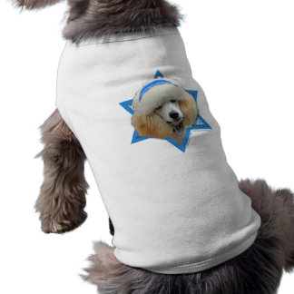 Hanukkah Star of David - Poodle - Apricot Tee