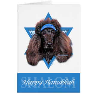 Hanukkah Star of David - Poodle - Bix Card