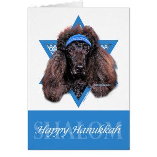 Hanukkah Star of David - Poodle - Bix Stationery Note Card