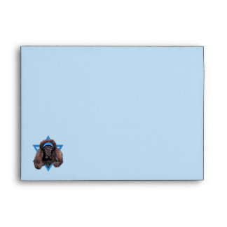 Hanukkah Star of David - Poodle - Bix Envelope