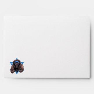 Hanukkah Star of David - Poodle - Bix Envelope