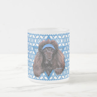 Hanukkah Star of David - Poodle - Bix Frosted Glass Coffee Mug