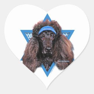 Hanukkah Star of David - Poodle - Bix Heart Sticker