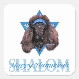 Hanukkah Star of David - Poodle - Bix Square Sticker