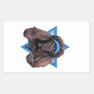 Hanukkah Star of David - Poodle - Bix Rectangular Sticker