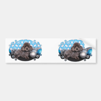 Hanukkah Star of David - Poodle - Murphy Bumper Sticker