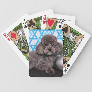 Hanukkah Star of David - Poodle Bicycle Poker Deck
