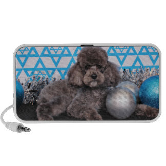 Hanukkah Star of David - Poodle Portable Speakers