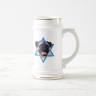 Hanukkah Star of David - Pug Beer Stein