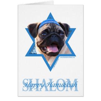 Hanukkah Star of David - Pug Stationery Note Card